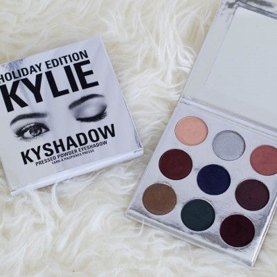 kylie cosmetics holiday edition collection, kyshadow holiday edition palette, holiday edition mini matte liquid lipsticks